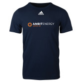 Adidas Navy Logo T Shirt-Ambit Energy Japan