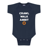 Navy Infant Onesie-Crawl Walk Ambit