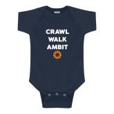 Navy Infant Onesie-Crawl Walk Ambit