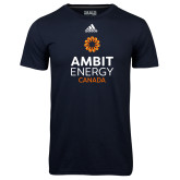 Adidas Climalite Navy Ultimate Performance Tee-Ambit Energy Canada