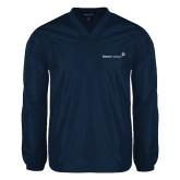 V Neck Navy Raglan Windshirt-