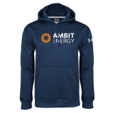 Under Armour Navy Performance Sweats Team Hoodie-Ambit Energy