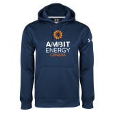 Under Armour Navy Performance Sweats Team Hoodie-Ambit Energy Canada