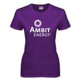 Ladies Purple T Shirt-