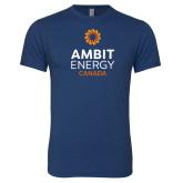 Next Level Vintage Navy Tri Blend Crew-Ambit Energy Canada