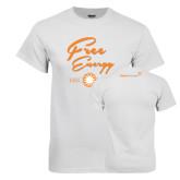 White T Shirt-Free Energy