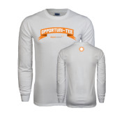 White Long Sleeve T Shirt-Opportuni Tee