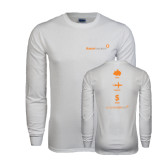 White Long Sleeve T Shirt-Save Travel Earn