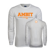 White Long Sleeve T Shirt-Collegiate Ambit Energy
