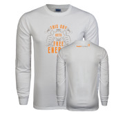 White Long Sleeve T Shirt-This Guy Gets Free Energy
