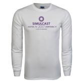White Long Sleeve T Shirt-Ambit Simulcast