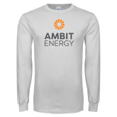 White Long Sleeve T Shirt-Ambit Energy