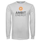White Long Sleeve T Shirt-Ambit Energy