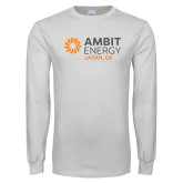 White Long Sleeve T Shirt-Ambit Energy Japan