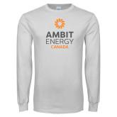White Long Sleeve T Shirt-Ambit Energy Canada