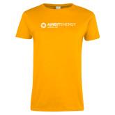 Ladies Gold T Shirt-Ambit Energy Japan