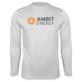 Syntrel Performance White Longsleeve Shirt-Ambit Energy