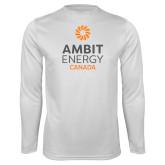 Performance White Longsleeve Shirt-Ambit Energy Canada