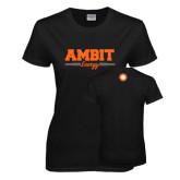 Ladies Black T Shirt-Collegiate Ambit Energy