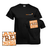 Black T Shirt-Earn Free Energy Distressed