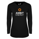 Ladies Syntrel Performance Black Longsleeve Shirt-Ambit Energy