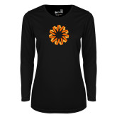 Ladies Syntrel Performance Black Longsleeve Shirt-Spark