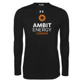 Under Armour Black Long Sleeve Tech Tee-Ambit Energy Canada