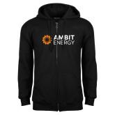 Black Fleece Full Zip Hoodie-Ambit Energy