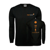 Black Long Sleeve TShirt-Save Travel Earn