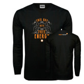 Black Long Sleeve TShirt-This Guy Gets Free Energy