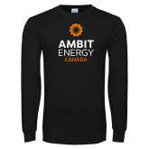 Black Long Sleeve T Shirt-Ambit Energy Canada
