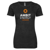 Next Level Ladies Junior Fit Black Burnout Tee-Ambit Energy Canada