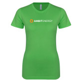 Next Level Ladies SoftStyle Junior Fitted Kelly Green Tee-Ambit Energy
