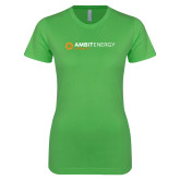 Next Level Ladies SoftStyle Junior Fitted Kelly Green Tee-Ambit Energy Japan