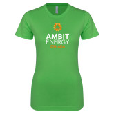 Next Level Ladies SoftStyle Junior Fitted Kelly Green Tee-Ambit Energy Canada