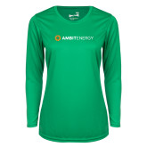 Ladies Syntrel Performance Kelly Green Longsleeve Shirt-Ambit Energy
