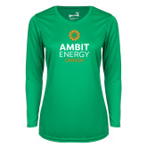 Ladies Syntrel Performance Kelly Green Longsleeve Shirt-Ambit Energy Canada