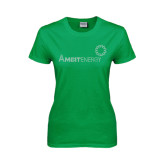 Ladies Kelly Green T Shirt-Sequins