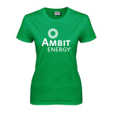 Ladies Kelly Green T Shirt-