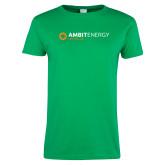 Ladies Kelly Green T Shirt-Ambit Energy Japan
