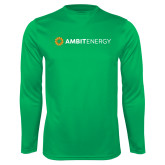 Performance Kelly Green Longsleeve Shirt-Ambit Energy