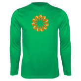 Performance Kelly Green Longsleeve Shirt-Spark