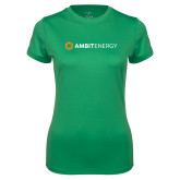 Ladies Syntrel Performance Kelly Green Tee-Ambit Energy