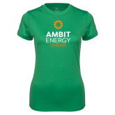 Ladies Syntrel Performance Kelly Green Tee-Ambit Energy Canada
