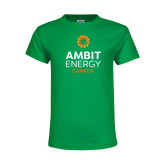 Youth Kelly Green T Shirt-Ambit Energy Canada