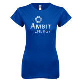 Next Level Ladies SoftStyle Junior Fitted Royal Tee-Foil