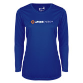 Ladies Syntrel Performance Royal Longsleeve Shirt-Ambit Energy