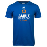 Adidas Climalite Royal Ultimate Performance Tee-Ambit Energy Canada