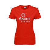 Ladies Red T Shirt-Foil