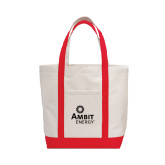 Contender White/Red Canvas Tote-